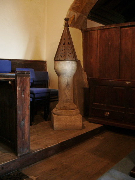 The Parish Church of St Oswald, Leathley, Font