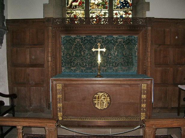 The Parish Church of St Oswald, Leathley, Altar