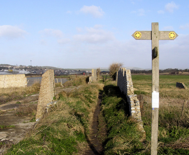 Vanguard Way Footpath from Tide Mills towards Newhaven