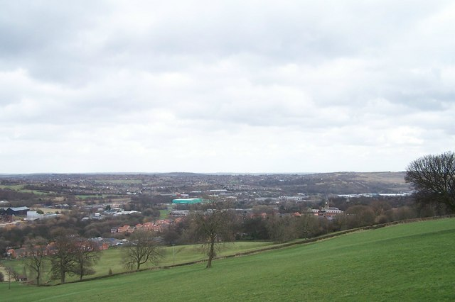 View from Worrall Road towards Sheffield