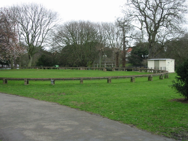 Miniature railway track in Ellington Park