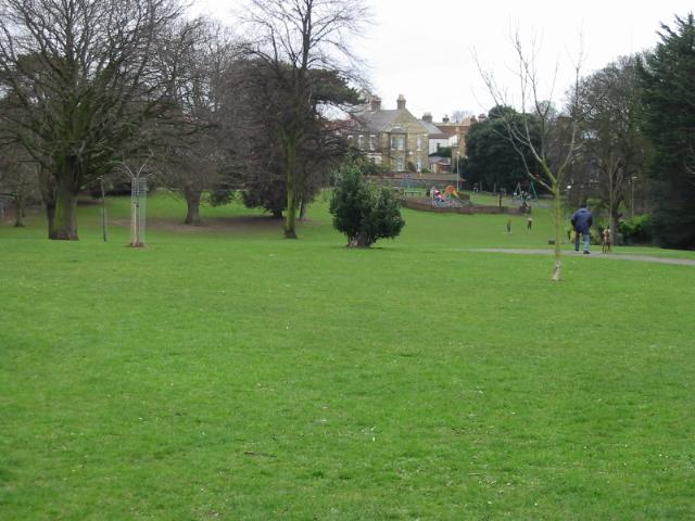 View across Ellington Park, Ramsgate