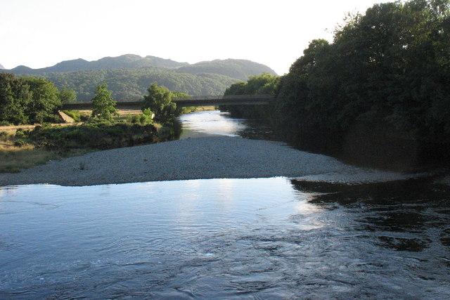 The Mawddach downstream of the old Llanelltyd Bridge