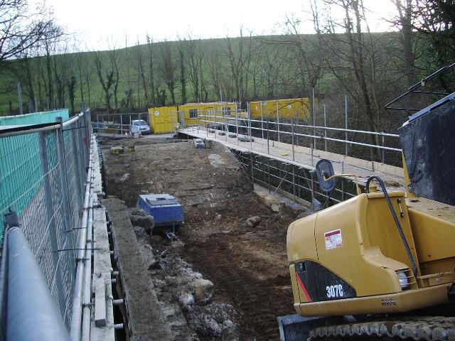 Lindley Bridge under repair