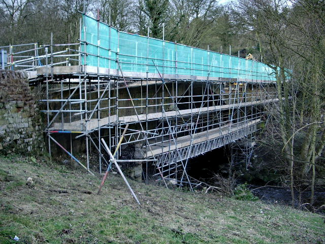 Lindley Bridge under repair