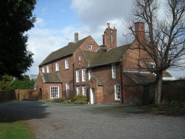 Houses next to Atcham church