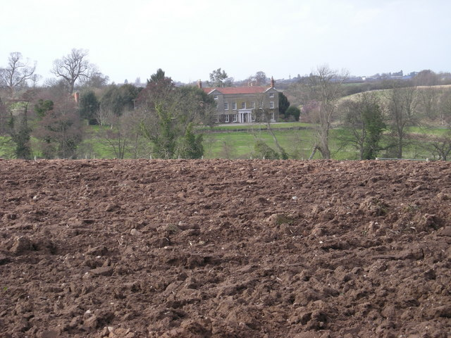 Ploughed field in front of Chilton Grove