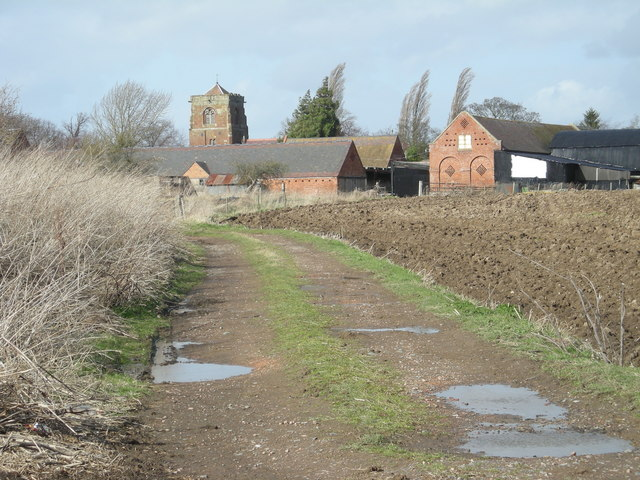 Looking back along the track to Atcham Grange