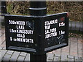 SP1190 : Signpost on Fazeley Canal by David