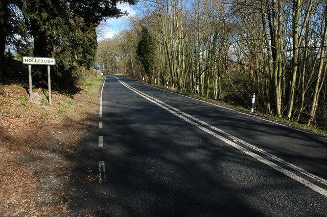 The A438 at Hollybush