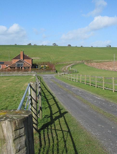 View from a footpath near Lugwardine Chapel
