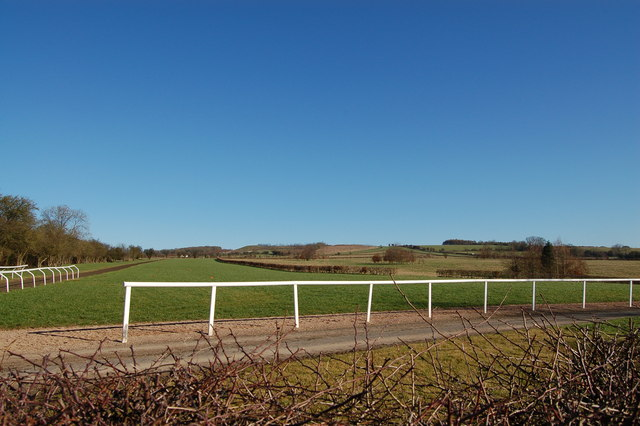 All-weather gallops at Ford, Gloucestershire