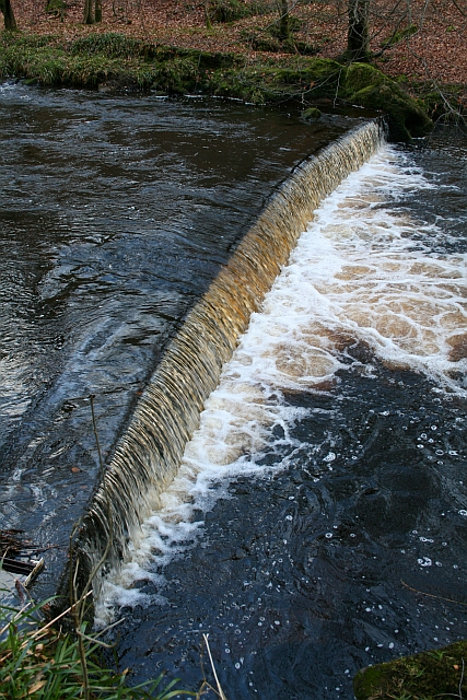 Weir on Hebden Water