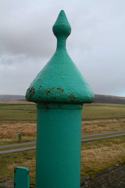 Gatepost at Gorple Cottages