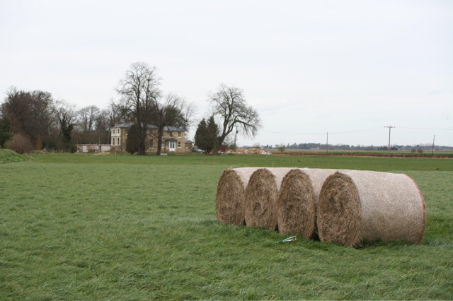 Holwoods House and Straw Bales