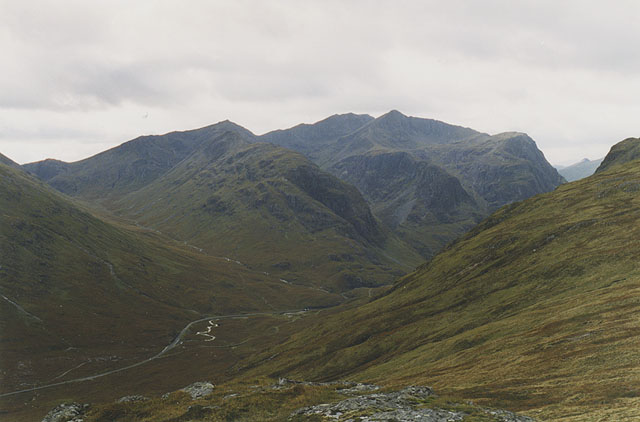 View south west from Stob Mhic Mhartuin