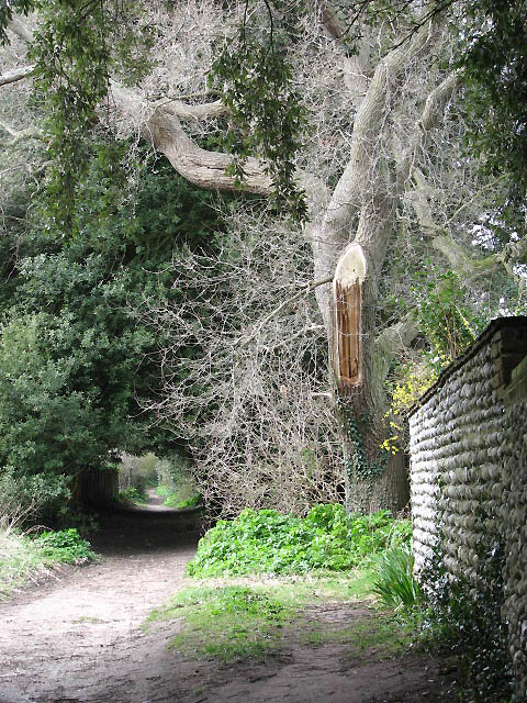 Footpath past the Old Hall