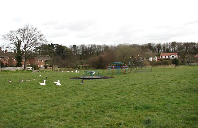 Village green and children's playground