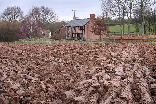 Cottages and Ploughed Field