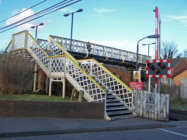 Footbridge at Snodland station