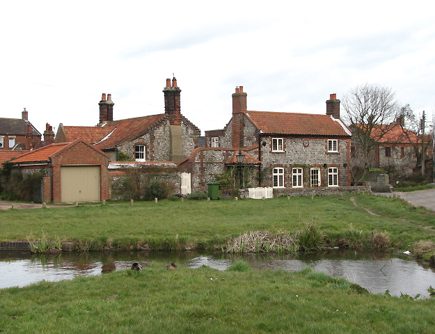 Cottages on the NW edge of the village green