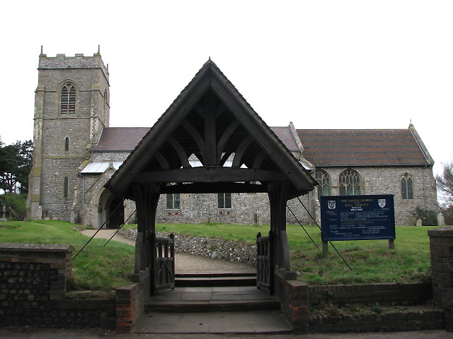 Holy Trinity church and lych gate