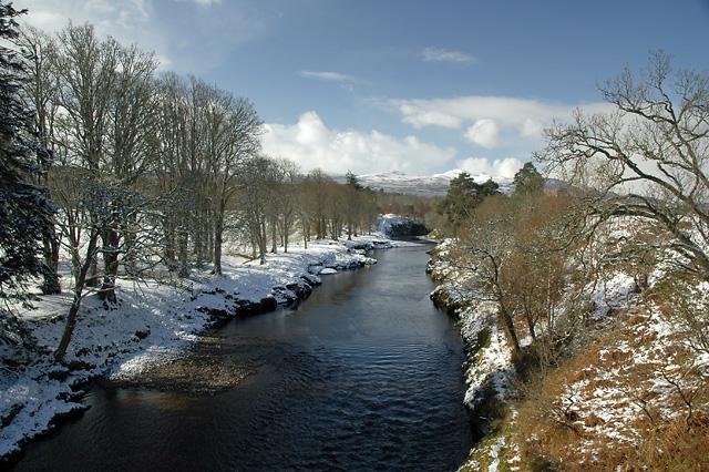 River Carron after a Snowfall