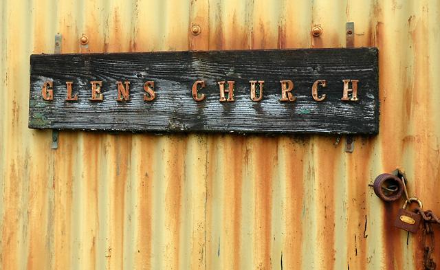 Glens Church Sign