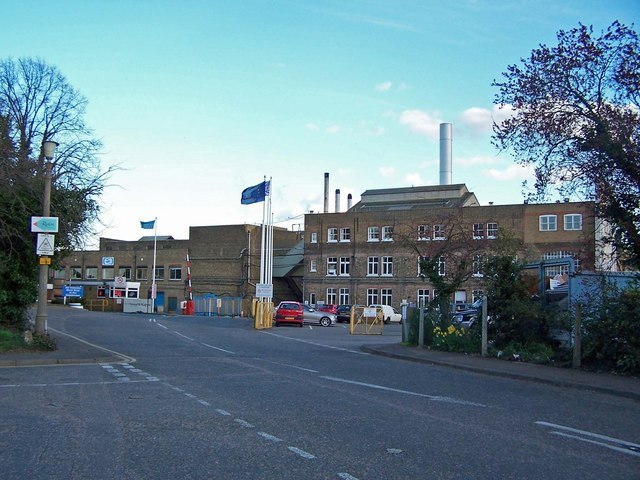 Entrance to Snodland paper mill