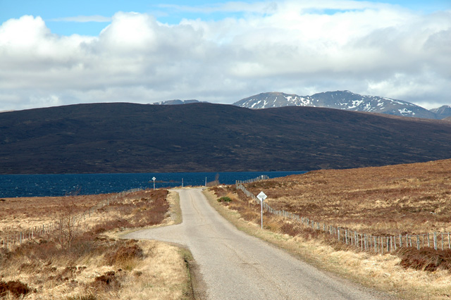 Approaching Loch Shin on the A838