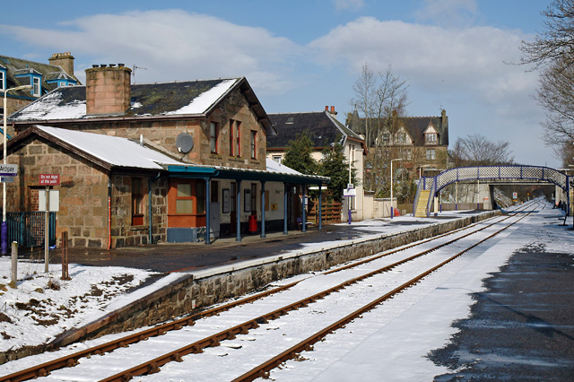 Ardgay Station after a Snowfall