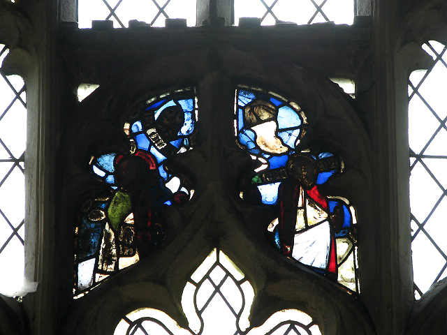 Holy Trinity church - fragments of old glass