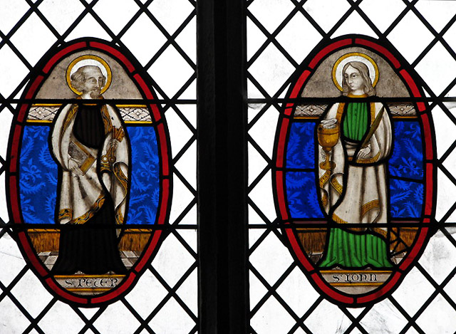 Holy Trinity church - stained glass roundels
