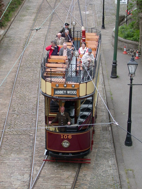 LCC Tram at Crich Tramway Village