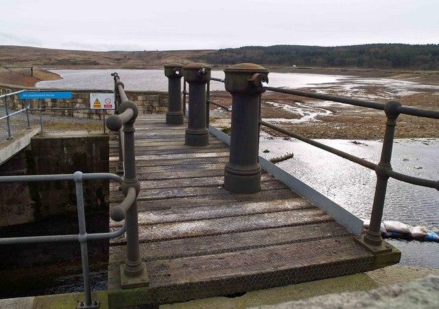 An empty Redmires upper reservoir