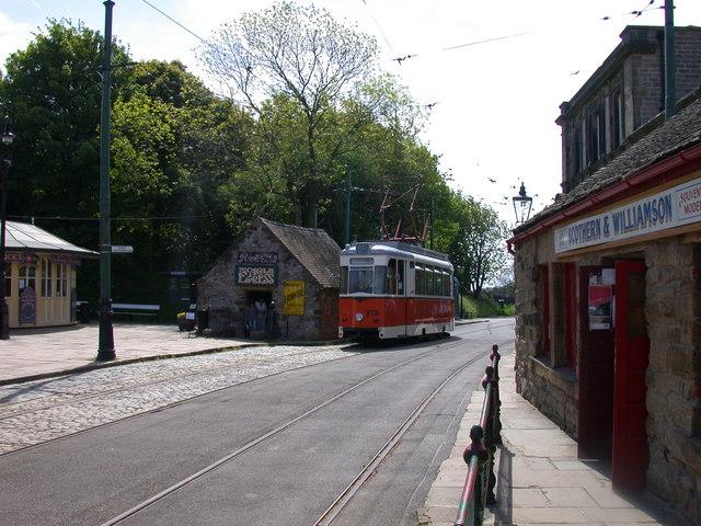 Berlin Tram at Crich Tramway Village