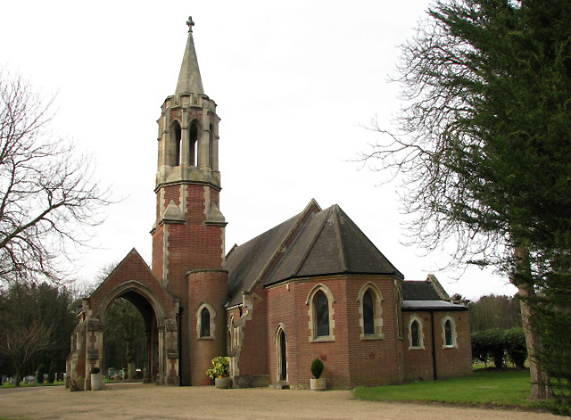 Chapel in the new Cromer town cemetery