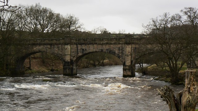 River Wharfe and aqueduct