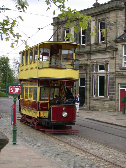 Chesterfield Tram at Crich Tramway Village