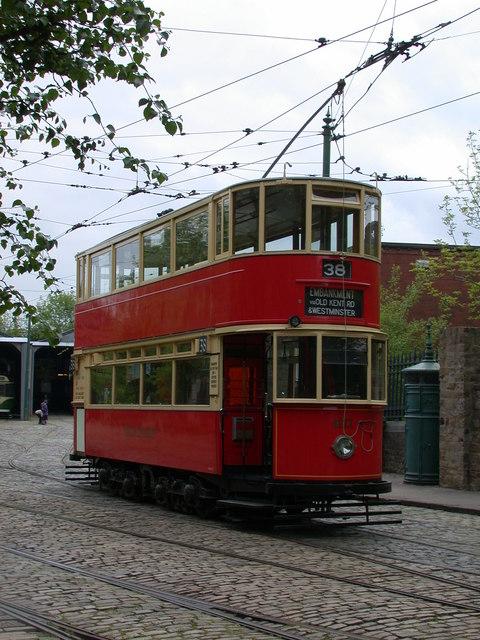 London Tram at Crich Tramway Village