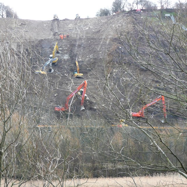 Ballet for excavators, Reins Wood, Elland