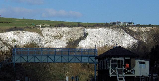 Lewes Golf Club and Railway Signal Box