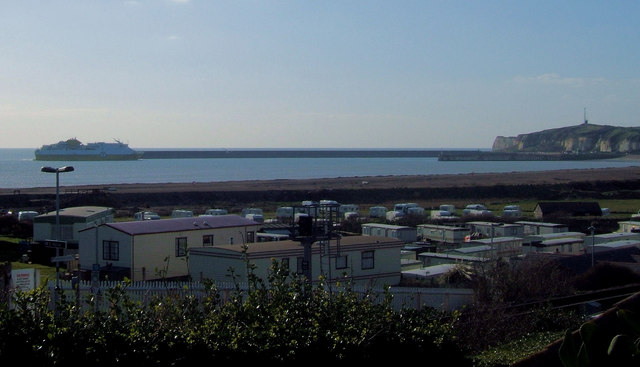 Caravan Parks and Newhaven from Bishopstone Station