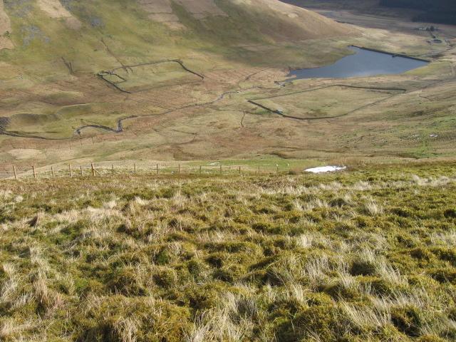 Reservoir from Faugh hillside