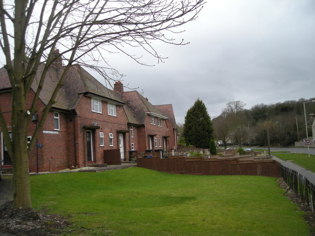 Houses beside the Church Stretton road