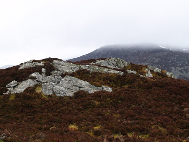 Summit rocks, Carn Duhb