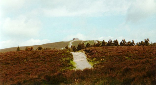 Offa's Dyke Path approaching Moel Famau