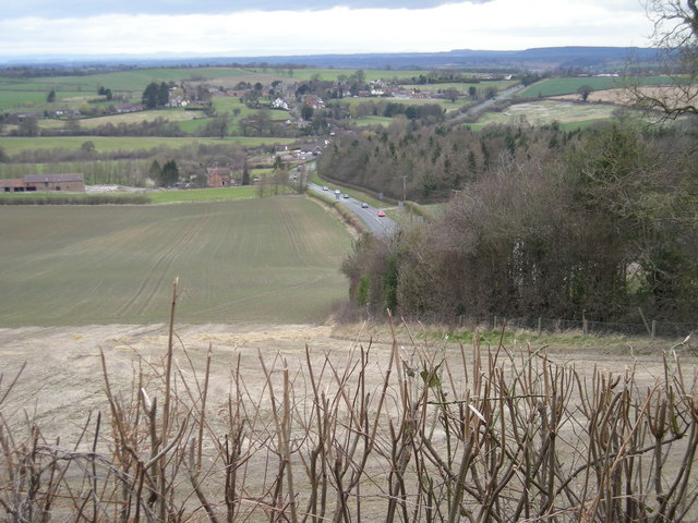 Cottage Coppice and the A 458 to Shrewsbury