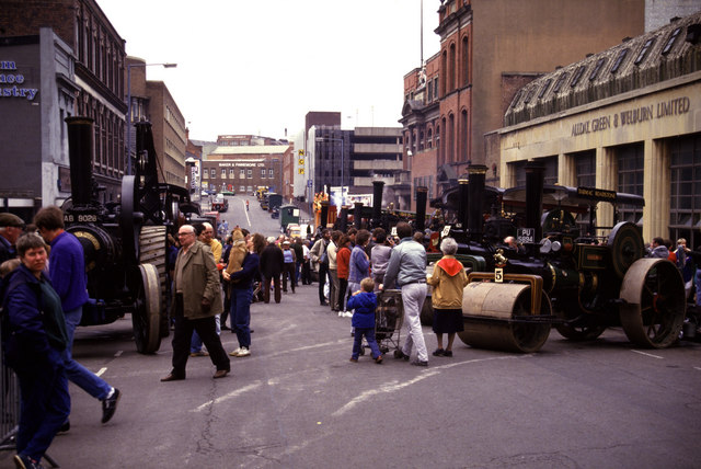 Traction engine rally, Newhall Street
