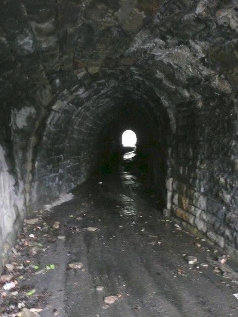 Inside the tunnel off Woodhead Road, Steps, Almondbury